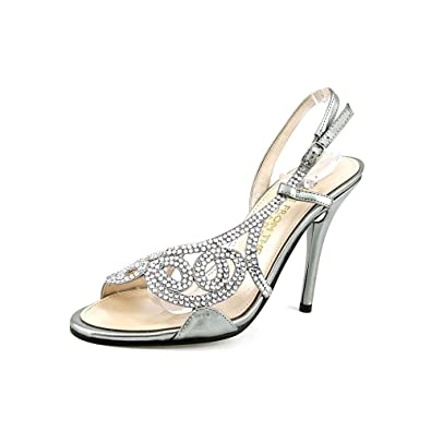 E Live From The Red Carpet E0014 Women's Sandals Mercury Metallic Size 5.0