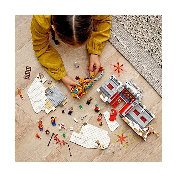 LEGO Story of Nian 80106 Building Kit; Collectible, Educational, Lunar New Year Gift Toy for Kids, New 2021 (1,067…