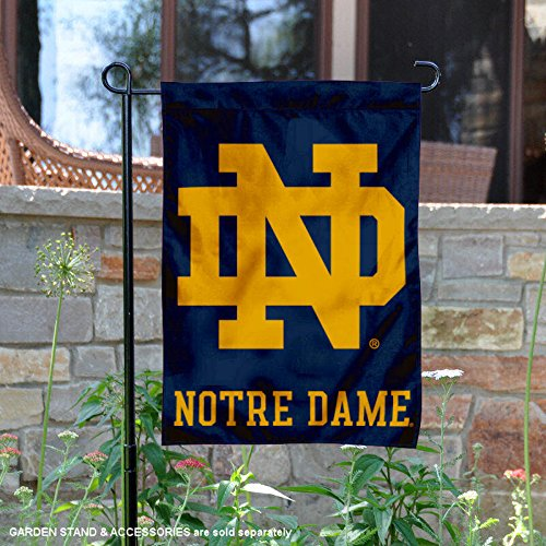 College Flags and Banners Co. Notre Dame Fighting Irish ND Logo Garden (Notre Dame Border)