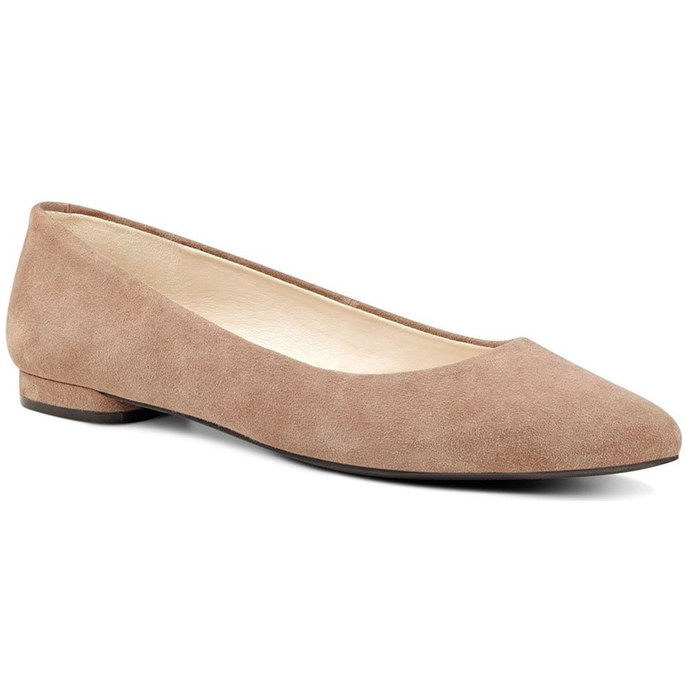 Nine West Women's Onlee Suede Ballet Flat B01EXXJYG0 10 B(M) US|Wheat