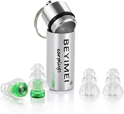 Tapones protectors de oído BEYIMEIMusic Pro con caja de aluminio ...