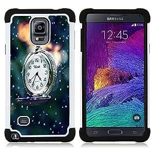 /Skull Market/ - Time over For Samsung Galaxy Note 4 SM-N910 N910 - 3in1 h????brido prueba de choques de impacto resistente goma Combo pesada cubierta de la caja protec -