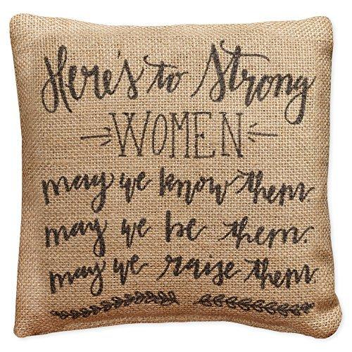 Strong Women Small Burlap Pillow 8