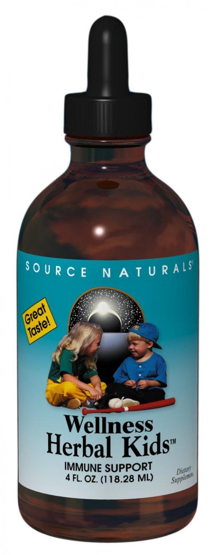 Source Naturals Wellness Herbal Kids Liquid, Immune Support for Children Ages 1-12, 4 Ounce