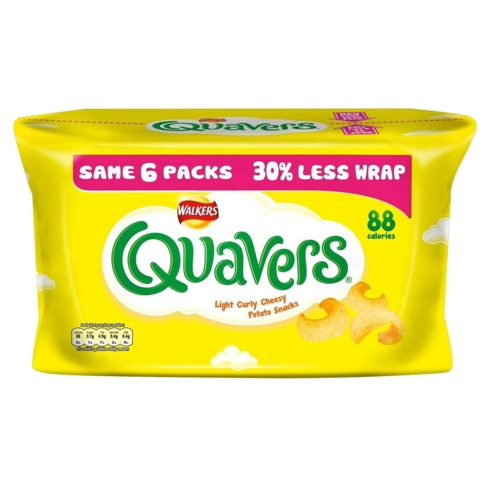 Walkers Quavers - Cheese (6x17g) - Pack of 2
