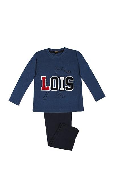 Lois - Pijama Para Niño, Color Azul Jaspe, Talla 12