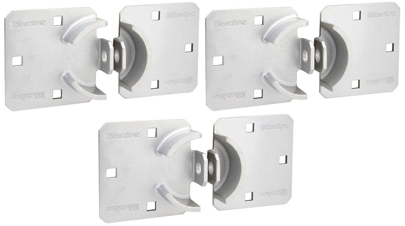 Master Lock Hasp, Solid Steel Hidden Hasp, 9 in. Wide, 770 (Pack of 3) by Master Lock