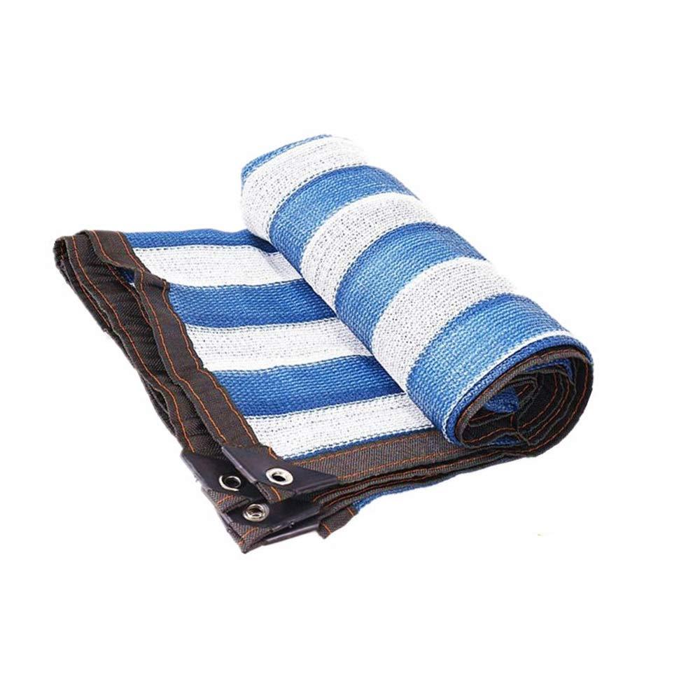 DEWUFAFA 色の日焼け止め日焼け止め、別荘の中庭の温室車の屋根のための暗号化の厚くなる陰の網 (Color : Blue and white, Size : 4x8m) B07ST4FDZ9 Blue and white 4x8m