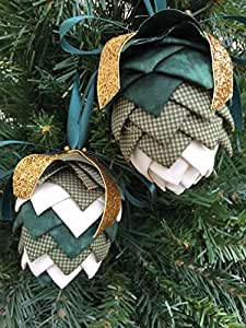Amazon Com No Sew Quilted Pinecone Christmas Ornament Kit