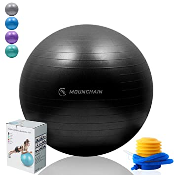 Amazon.com: Mounchain - Balón de yoga (varios tamaños y ...