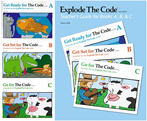 Explode The Code - 4 Books SET (Book A, B, C and Teacher's Guide)