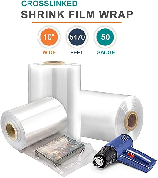 Amazon Com 10 X 5250 Polyolefin Shrink Film Wrap Centerfold 50 Gauge Thick 1 Roll Office Products