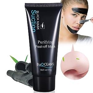 Mascarilla para eliminar puntos negros, Black Mask, peel off mask, Mascarilla Negra, exfoliante, para espinillas, limpieza profunda, limpia poros, acné, purificante, cuidado facial y de la piel (60 g)