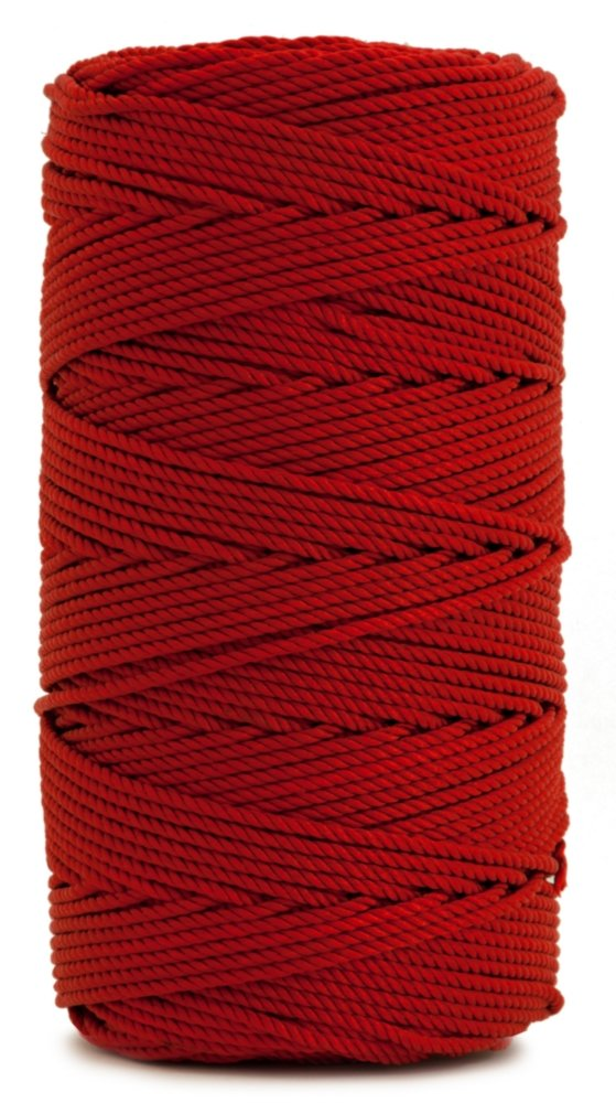 Rosary Twine, Twisted Nylon. Size #36, Red, 1 lb 1-pack