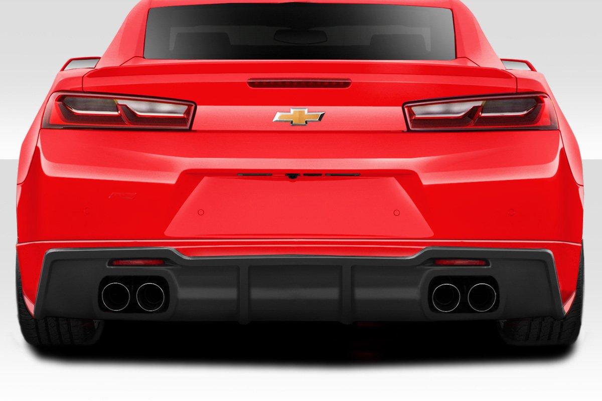 Body Kit Compatible With Camaro 2016-2018 Quad Exhaust 1 Piece Brightt Duraflex ED-MLE-345 Racer Rear Lip