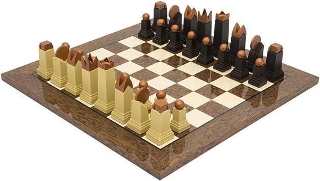 The Regency Chess Company Ltd The Art Decoración Cacao Ceniza Madera auténtica Juego de ajedrez: Amazon.es: Juguetes y juegos