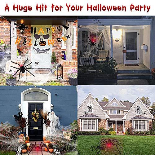 Bonbell Ragno Gigante Halloween 49 inch, Ragno Halloween, 20 Ragni di Plastica, Ragnatela di 200 Piedi Quadrati, Decorazioni di Halloween per Feste Forniture