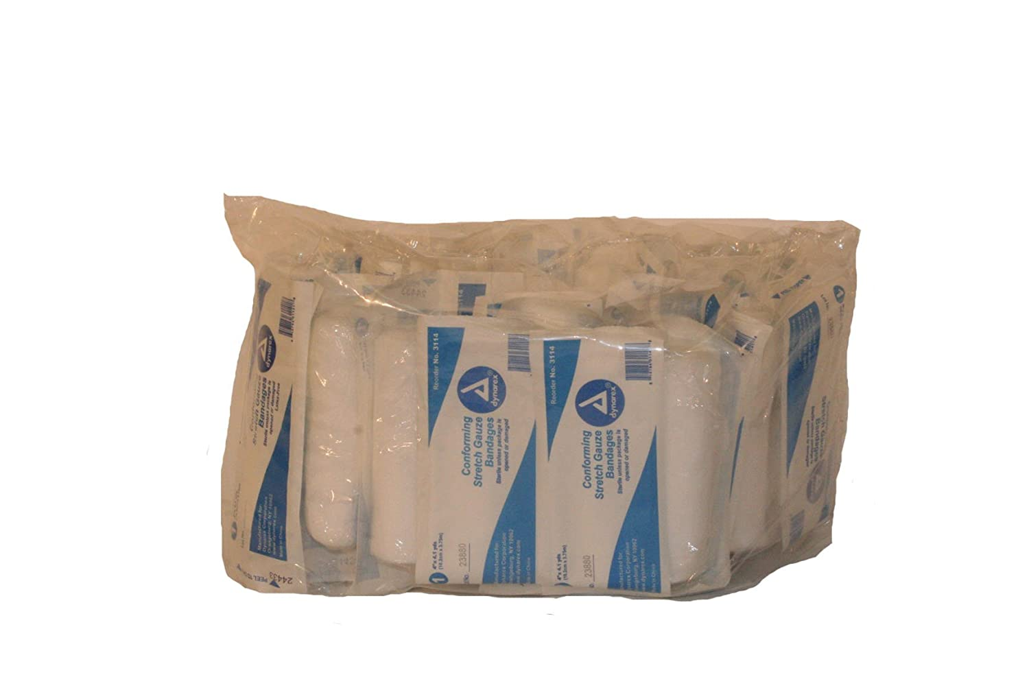 4-3//32 yds Length x 4 Width First Voice TS-3114 Conforming Stretch Sterile Gauze Bandage 4-3//32 yds Length x 4 Width Pack of 30 Pack of 30