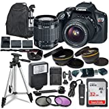 Canon EOS Rebel T6 Digital SLR Camera with Canon EF-S 18-55mm Image Stabilization II Lens, Sandisk 32GB SDHC Memory Cards, Accessory...
