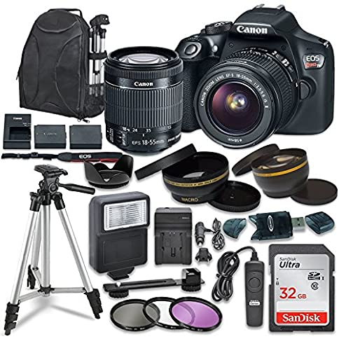 - 61zUoX8NGBL - Canon EOS Rebel T6 Digital SLR Camera with Canon EF-S 18-55mm Image Stabilization II Lens, Sandisk 32GB SDHC Memory Cards, Accessory Bundle