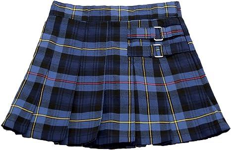 French Toast Uniforme Scolaire Filles Vert écossais plissé jupe taille 16,Neuf avec étiquette