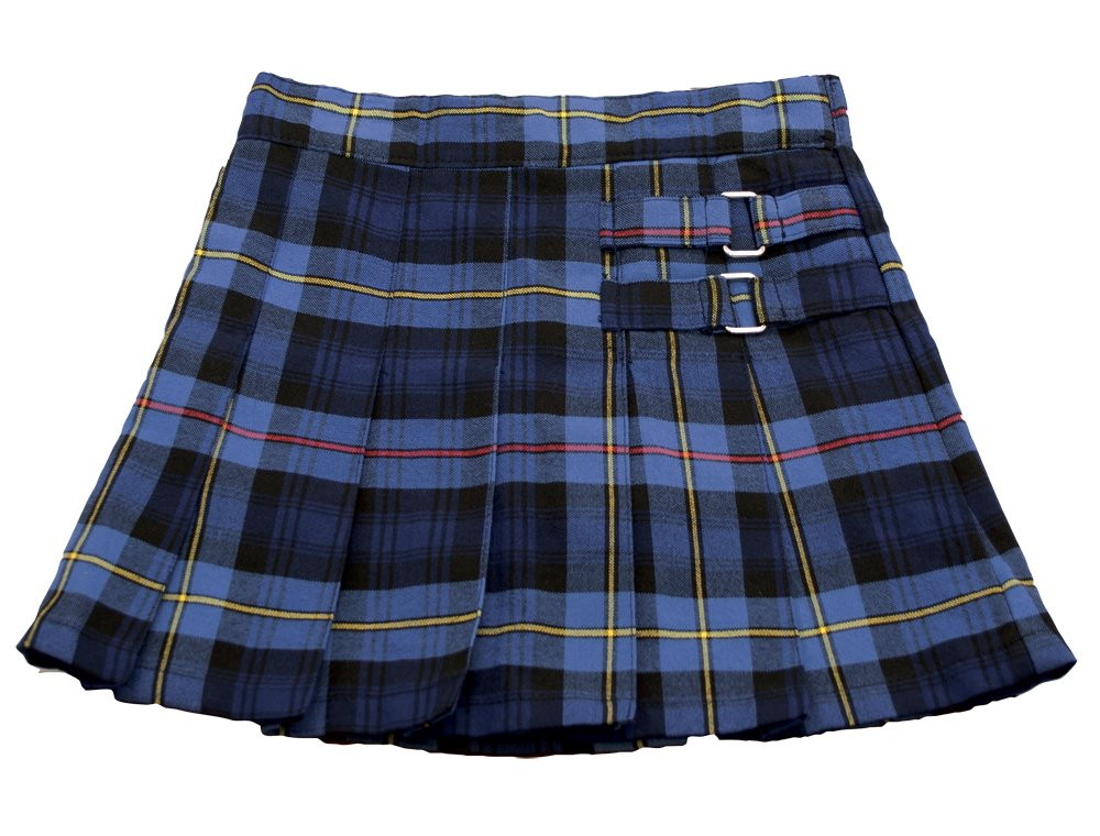French Toast Plaid Two-Tab Scooter-Blue/Red Plaid, 4