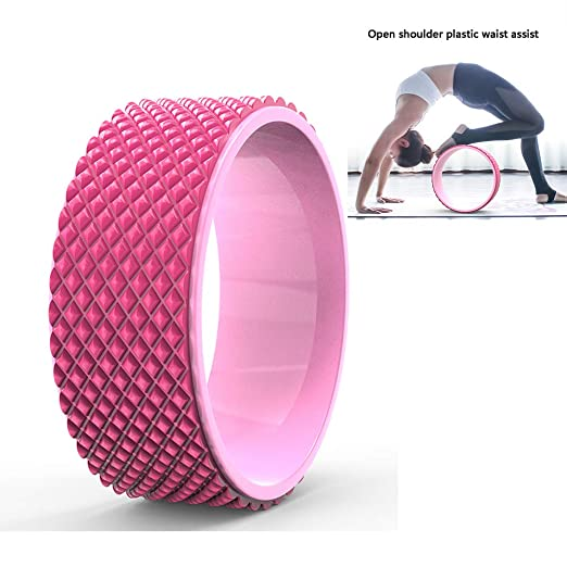 YUJIAL Rueda de Yoga Rosa para masajes en 3D para ...