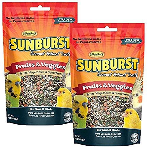 - Higgins Sunburst Fruits & Veggies Gourmet Treats for Small Birds (2 Pack)