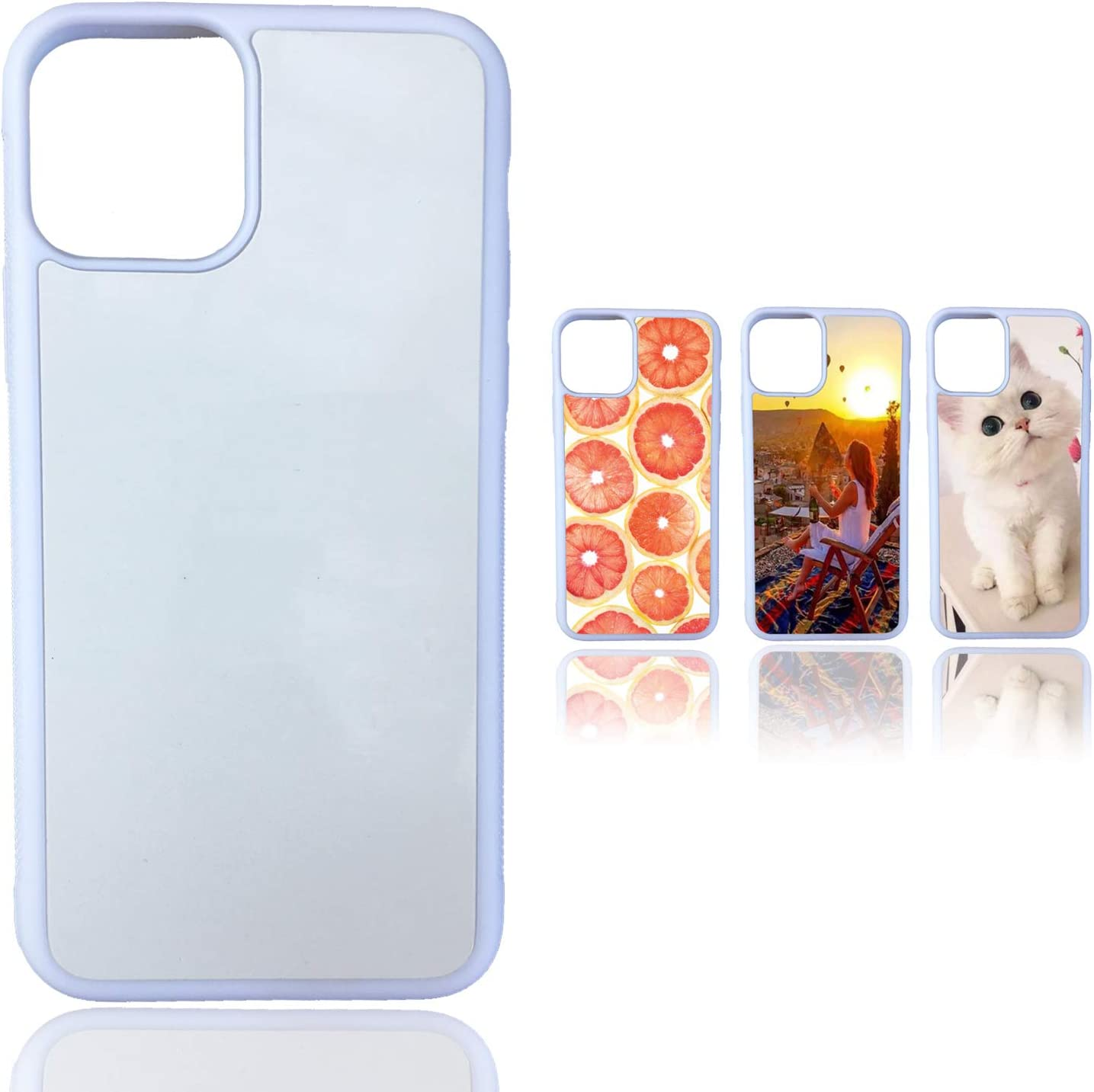JUSTRY 10 PCS Sublimation Blanks Phone Case Cases Covers White Compatible with Apple iPhone 11 Pro Max, 6.5-Inch (2019) Blank Printable Phone Case for DIY Soft Rubber Protective Slim Case Anti-Slip