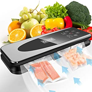 Vacuum Sealer Machine, 80Kpa Vacuum Food Sealers Machine, Auto Open and Close, Dry & Moist Food Modes, Automatic Vacuum Air Sealing System For Food Saver, Stainless Steel Housing