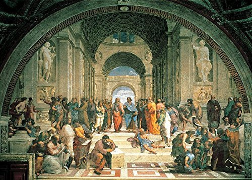 Tomax The School of Athens 1000 Piece Mini Raphael Jigsaw Puzzle