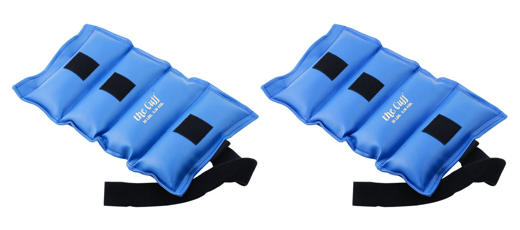 The Cuff Original Ankle and Wrist Weight - 20 Pound, Blue - Set of 2