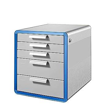 Archivadores con espiral Gabinete de archivo de escritorio tipo cajón cerradura gabinete de almacenamiento de escritorio