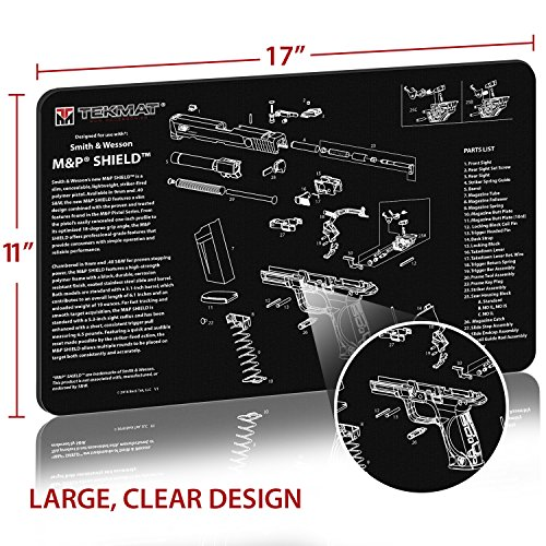 TekMat for use with Smith & Wesson M&P Shield - http://coolthings.us