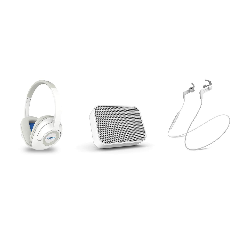 Auriculares Koss Inalambrico Bluetooth Bundle Blanco BT539iW Over-Ear con Remote y in-line Microfono BTS1W Portatil Spea
