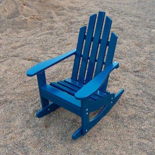 Prairie Leisure Junior Adirondack Rocking Chair (Chair Adirondack Blue Berry)