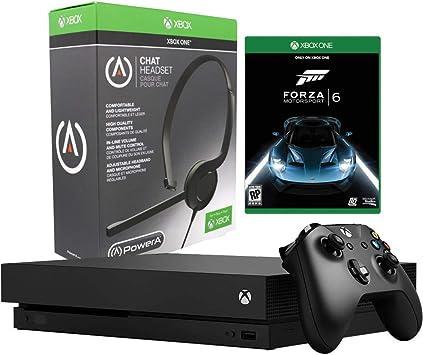 Microsoft Xbox One X - Consola de 1 TB con auriculares para chat y Forza Motorsport 6 Bundle (renovado): Amazon.es: Electrónica