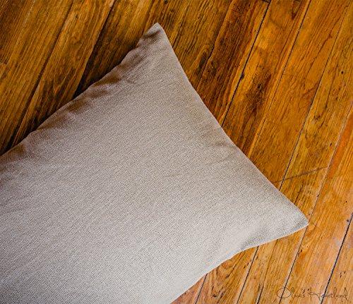 Olivia's Heartland Deluxe Burlap Natural Tan Standard Pillow ()