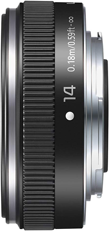 Panasonic LUMIX H-H014AE-K Micro Four Thirds 14 mm Single Focal Length Lens - Black