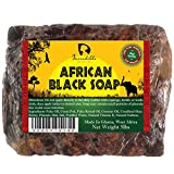 #1 Best Quality African Black Soap – Bulk 5lb Raw Organic Soap for Acne, Dry Skin, Rashes, Burns, Scar Removal, Face & Body Wash, Authentic Beauty Bar From Ghana West Africa – Incredible By Nature