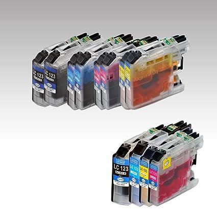 4 x Cleaner Cleaning Ink + 8 x Impresora de tinta LC121 compatible ...