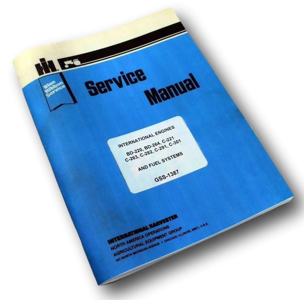 Amazon.com: International Farmall 706 756 Tractor Gas Engine Service Repair  Manual Ih Lpg Lp: Industrial & Scientific