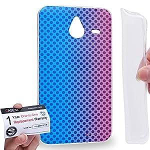 Case88 [Nokia Lumia 640XL] Gel TPU Carcasa/Funda & Tarjeta de garantía - Art Fashion Sunset Halftones Fashionista Art1618