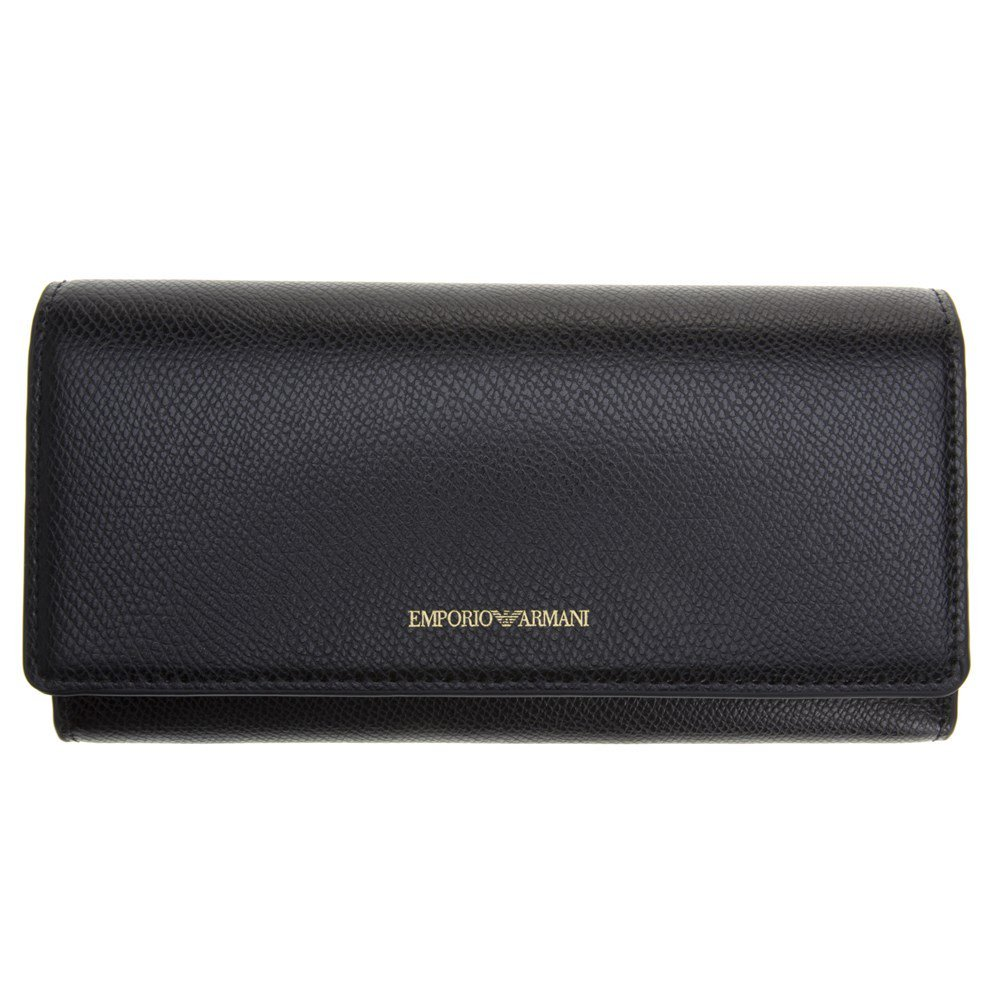 Emporio Armani Ladies Metallic Womens Purse Black