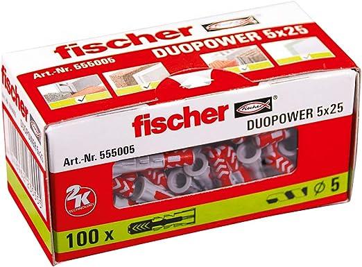 Fischer 555005 DUOPOWER 5x25 grau//rot 5 x 25
