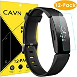 CAVN Compatibel met fitbit Inspire/Inspire HR Screen Protector [12 Pack], Full Coverage Flexible Protective Film Screen Cover Saver Ultra Clear Anti Bubble Screen Protector voor Inspire HR