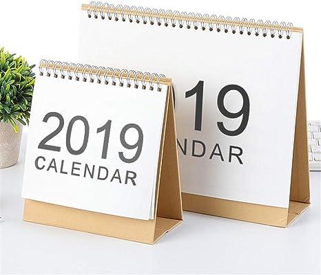 2019 Nuevo calendario creativo de escritorio con vista mensual en ...
