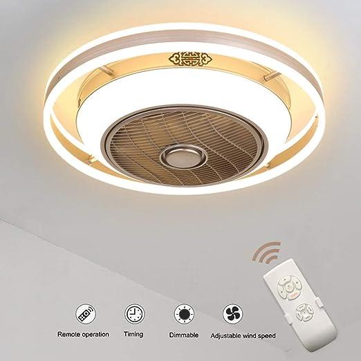 Ventiladores de Techo con Lámpara, Ventilador Invisible Lámpara de ...
