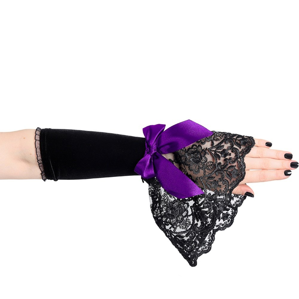 Sinister Women's Arm Warmers Purple Black-Purple One size