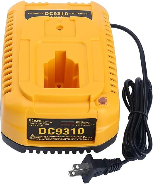Lasica 18V DC9310 Fast Battery Charger DW9116 DC9320 DC9319 for Dewalt 7.2V-18V XRP NI-CD NI-MH Battery DC9096 DC9098 DC9099 DC9091 DC9071 DE9057 ...